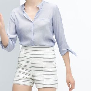 Zara Basic High Waisted Sailor Shorts